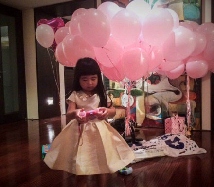 姐姐grace过4岁生日